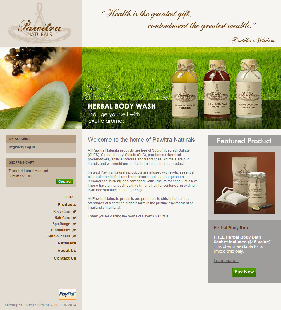 Pawitra Naturals CMS